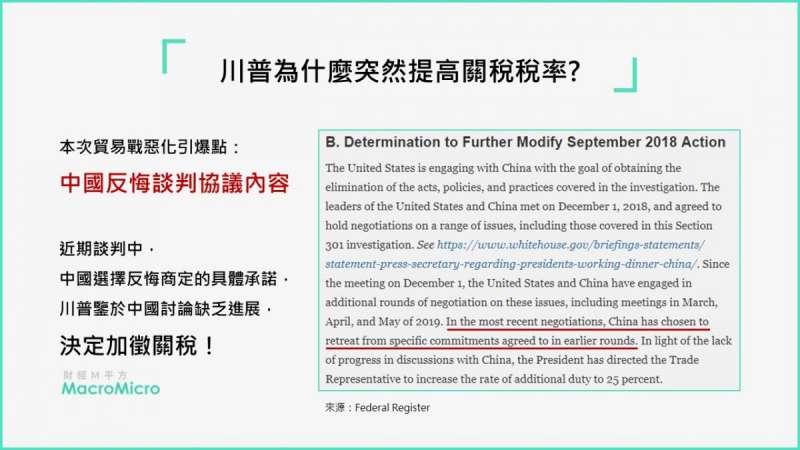 美方指控,中國意圖將整場談判推倒重來,引發美方不滿(圖片來源:財經M平方)