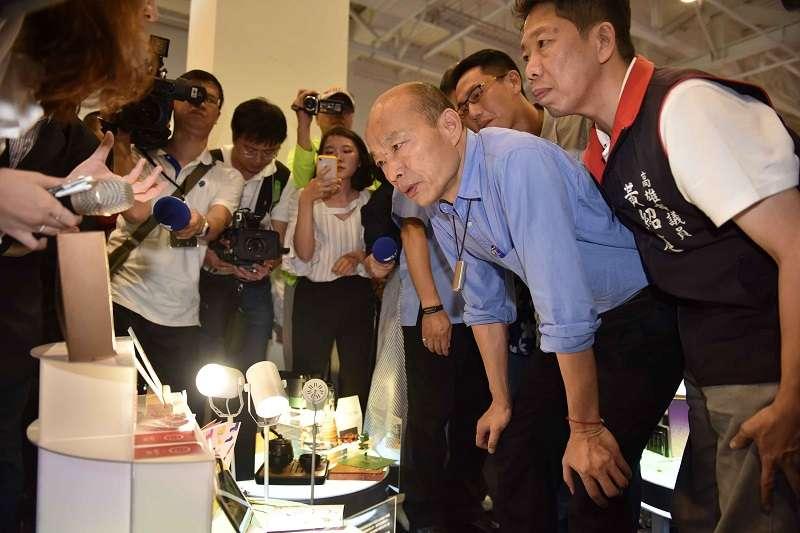 高雄市長韓國瑜說若他參選總統而當選,會留在高雄上班。(高雄市政府提供)