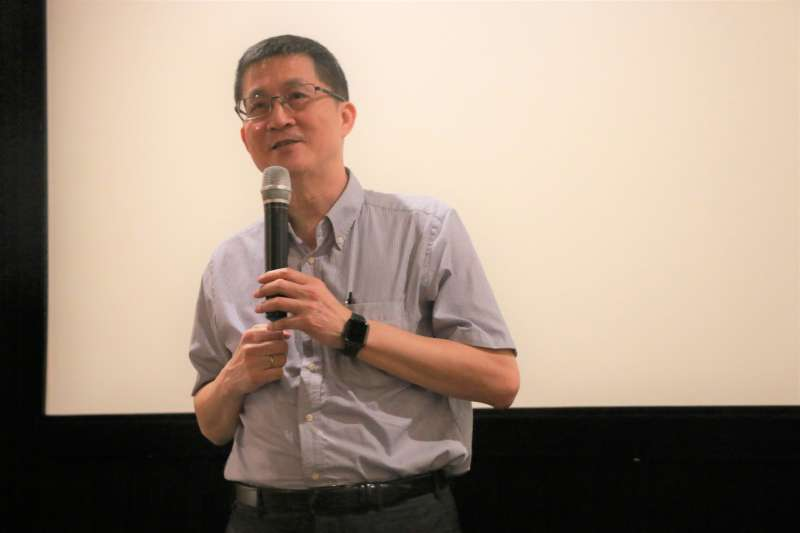 20190517-聯合報系願景工程執行長羅國俊(見圖)出席2019世新新聞畢業展《貧痕》開幕式,勉勵學生們抱持終身學習的態度。(世新新聞系提供)