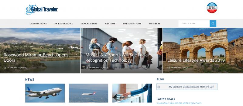 20190517-美國知名商務旅遊雜誌「環旅世界」(Global Traveler),每年舉辦「休閒生活風格獎」(Leisure Lifestyle Awards)由雜誌理事會、資深編輯評選。(擷取自Global Traveler網站)