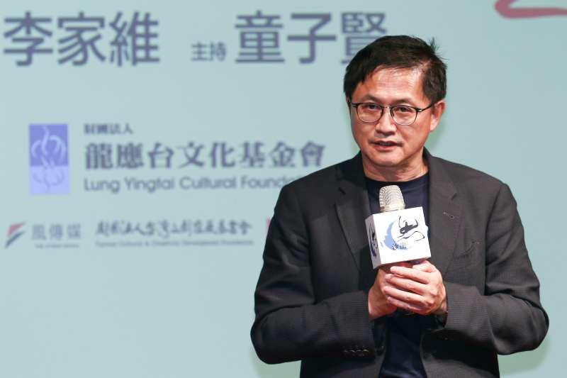20190518-龍應台基金會邀請和碩聯合科技董事長童子賢主持「孤獨世紀的來臨」演講會。(蔡親傑攝)