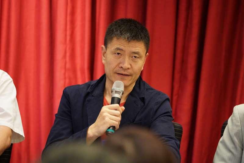 20190520-台灣民主基金會「六四30週年看中國對民主人權之威脅」座談會,六四學運領袖周鋒鎖出席。(盧逸峰攝)