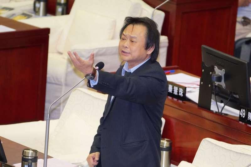 20190520-台北市議員王世堅質詢。(盧逸峰攝)