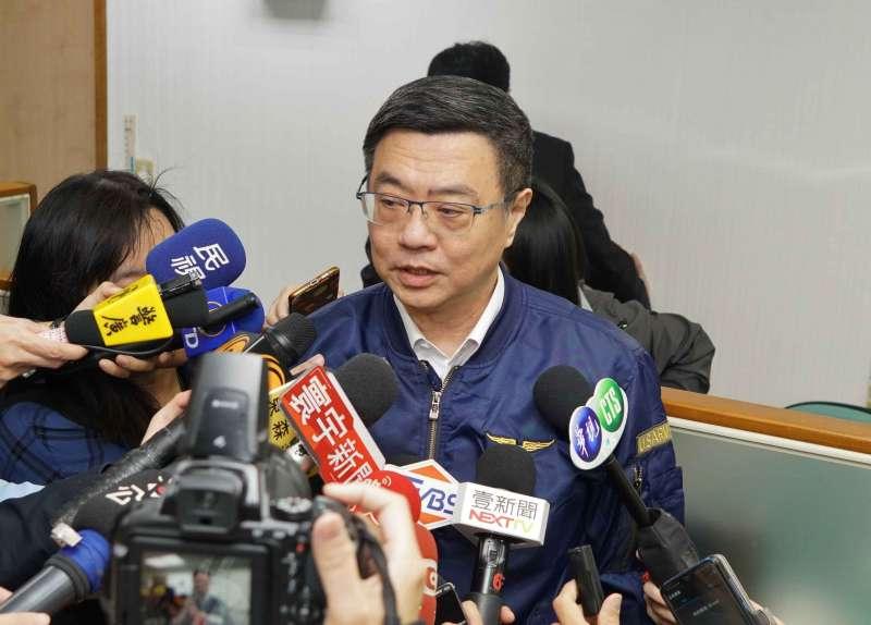 20190522-民進黨中執會,主席卓榮泰受訪。(盧逸峰攝)