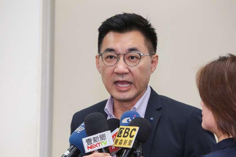 20190522-國民黨總召江啟臣22日於立院接受媒體聯訪。(顏麟宇攝)
