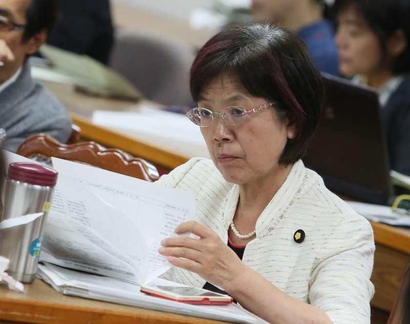 尤美女提出《法官法》修正版本,引發法界不滿。(柯承惠攝)