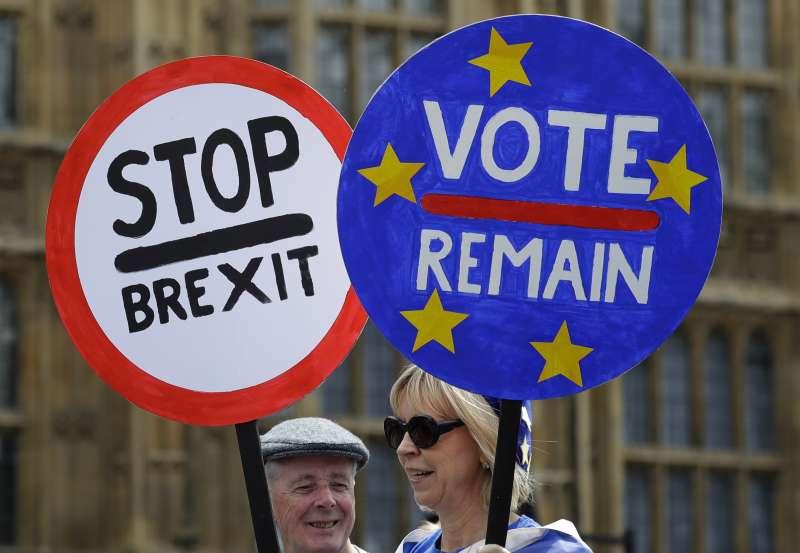 2016年脫歐公投結果出爐後,英國就陷入分裂。(美聯社)