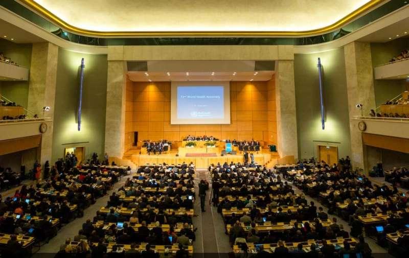 20190523-第72屆世界衛生大會(WHA),會期為5月20日至28日。(取自United Nations (UN)@twitter)世界衛生組織 WHO