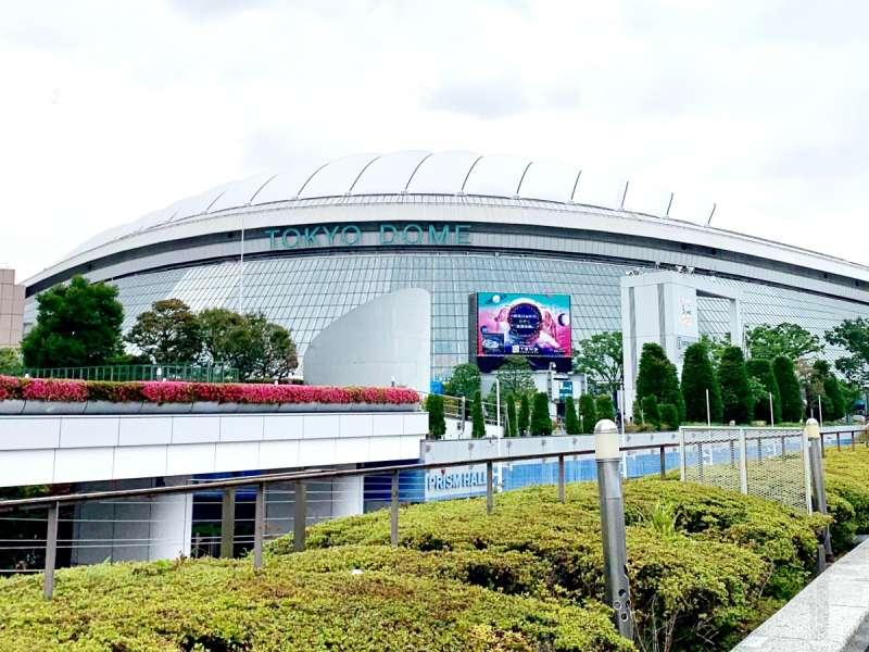 20190523-舉辦日本職棒賽事,也時常作為演唱會場地的東京巨蛋。(作者提供)