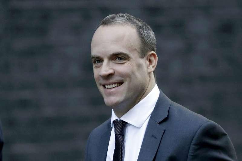 英國前脫歐事務大臣拉布(Dominic Raab)(AP)