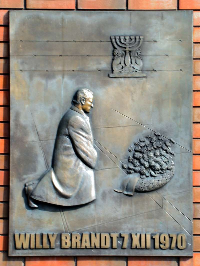 西德總理布蘭特(Willi Brandt)華沙之跪。(wikipedia/public domain)