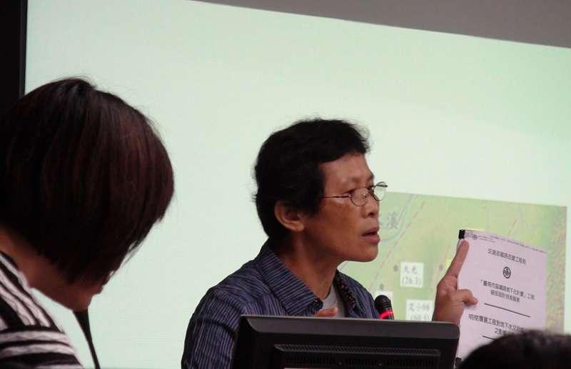 水資源保育聯盟發言人陳椒華,六度在都委會提出地下水問題卻不被重視。(朱淑娟提供)