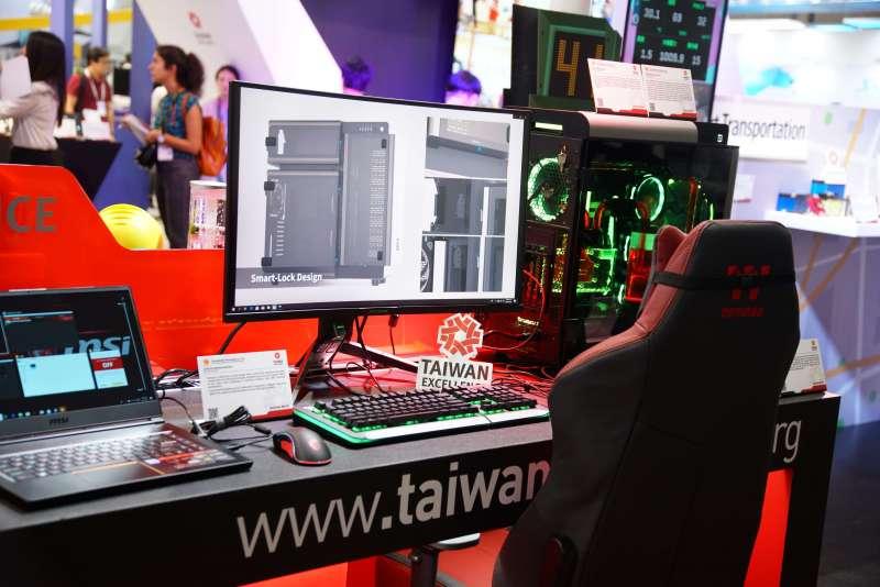 20190528-2019台北國際電腦展,電競設備展示。(盧逸峰攝)