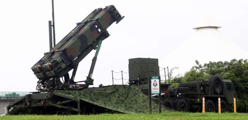 20190528-國軍漢光35號演習28日進入第二天。圖為現正部署在大佳河濱公園內的愛國者三型飛彈。(蘇仲泓攝)