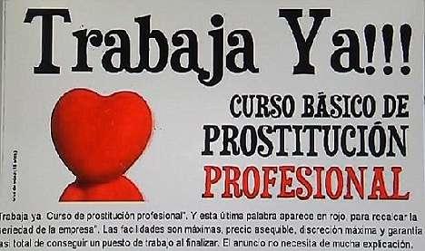 名為Aprosex的性專業組織就曾在西班牙開設「妓女學院」,並以廣告詞「現在就可以工作!」引起不少關注。(圖片擷取自Youtube)