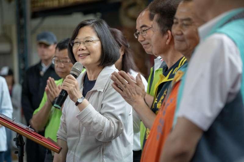 2019年6月1日,蔡英文總統參拜「水里義民廟」(總統府)