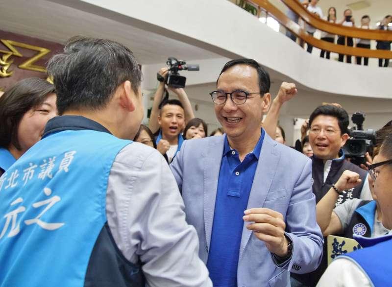 20190606-新北市議會國民黨團邀前新北市長朱立倫參加慶生會,並力挺前進總統府。