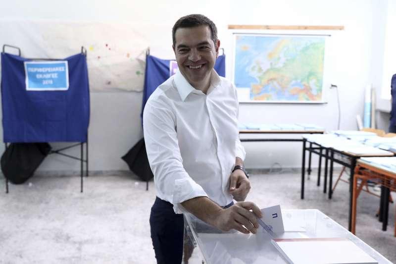 2019年5月歐洲議會選舉,希臘總理齊普拉斯(Alexis Tsipras)投票(AP)