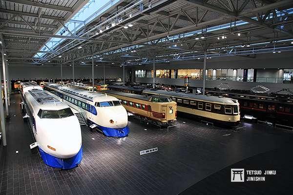 位於名古屋金城埠頭的「磁浮.鐵道館」,除蒐藏中京地區的國鐵車輛外,還有歷代東海道新幹線車輛。(攝影/陳威臣)