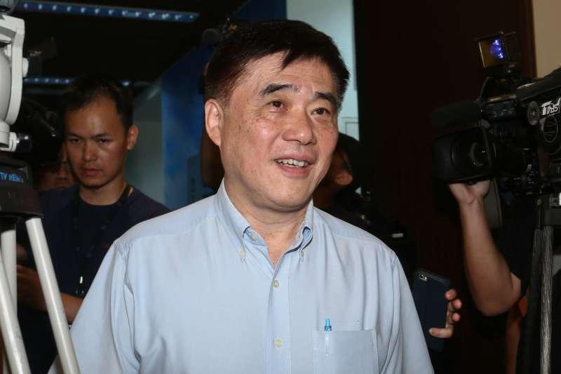 20190606-國民黨五人小組6日拜訪前立法院長王金平,圖為前台北市長郝龍斌。(蔡親傑攝)