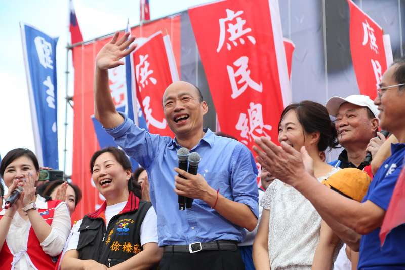 20190608-高雄市長韓國瑜8日出席花蓮「決戰2020,贏回台灣」造勢活動。(顏麟宇攝)