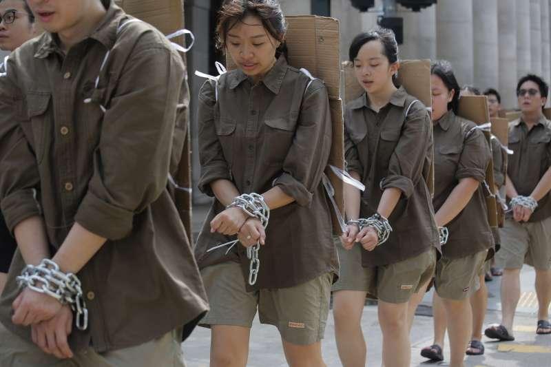 香港特區政府近來全力推動《逃犯條例》修訂,未來將容許中國從香港引渡「逃犯」,引發各方強烈質疑(AP)