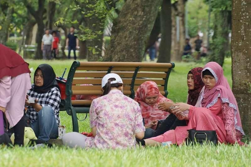 20190609-印尼移工出席台北開齋節活動。(盧逸峰攝)