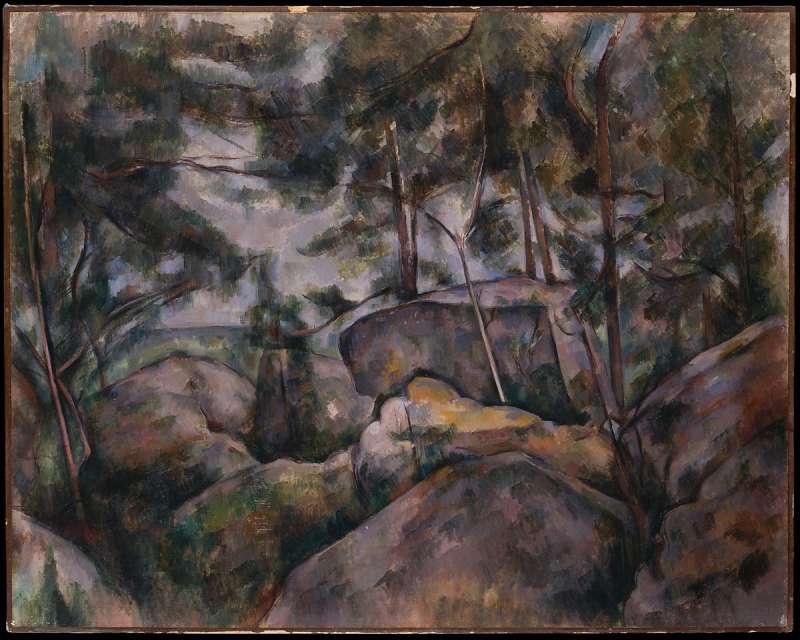 《森林中的石頭》(1890),藏於大都會博物館(取自維基百科)