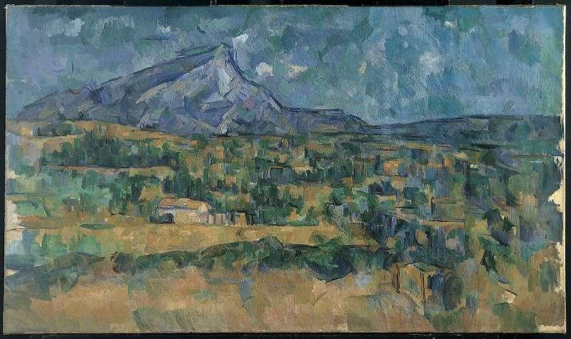 塞尚於1902-06年描繪的聖維克多山(藏於大都會博物館)。(取自維基百科)