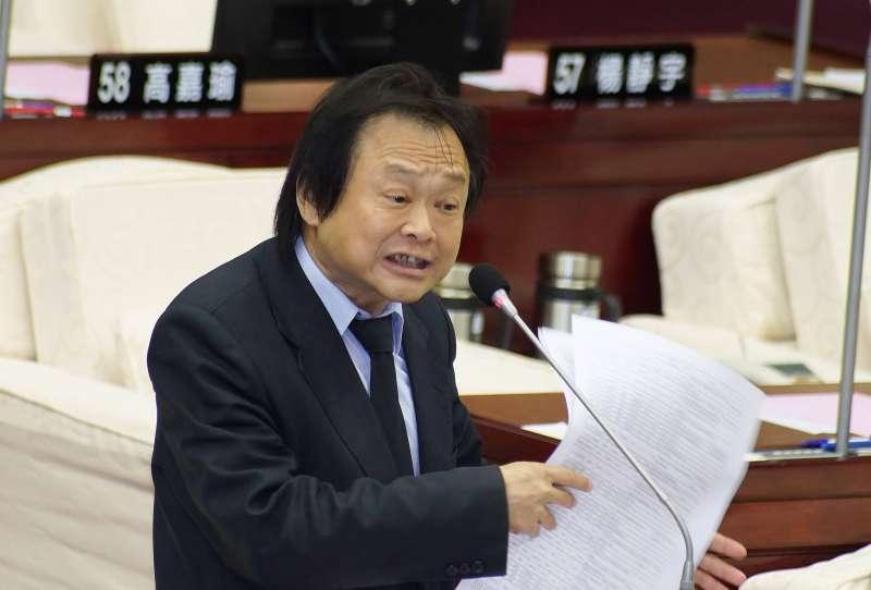 20190610-台北市議員王世堅出席市政總質詢。(盧逸峰攝)