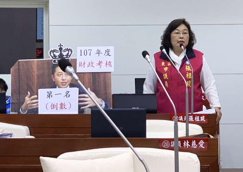 議員張祖琰質疑竹市不是富裕城市,籲林智堅市長花錢要審慎。(圖/新竹市議會提供)