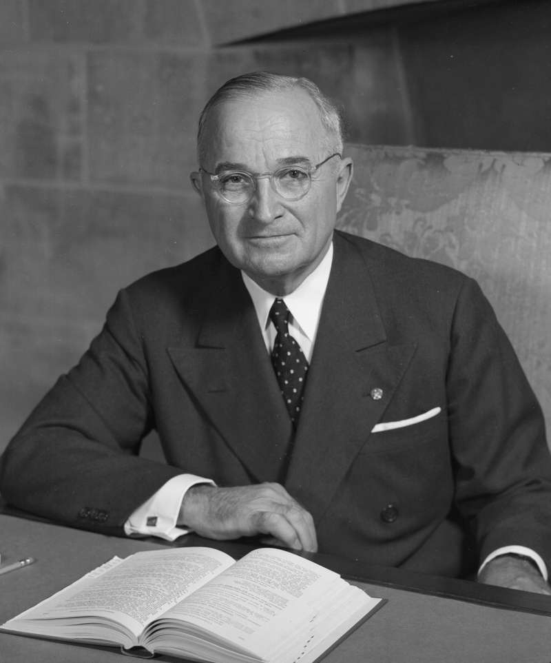 美國第33位總統杜魯門(Harry S. Truman)(Wikipedia / Public Domain)