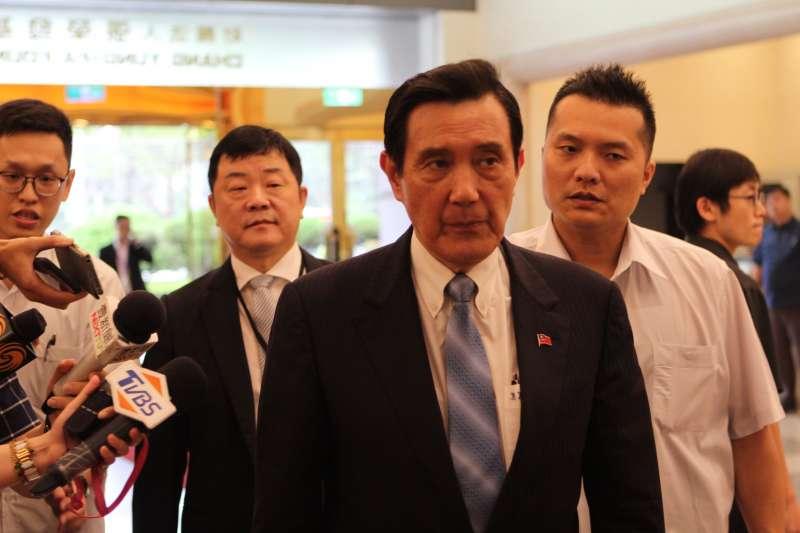 20190610-前總統馬英九10日出席「2019第六屆兩岸經濟論壇」。(羅暐智攝)