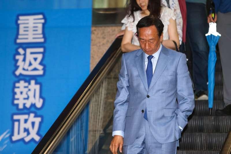20190611-鴻海董事長郭台銘11日出席「國民黨總統選舉參加提名初選同志座談會」。(顏麟宇攝)
