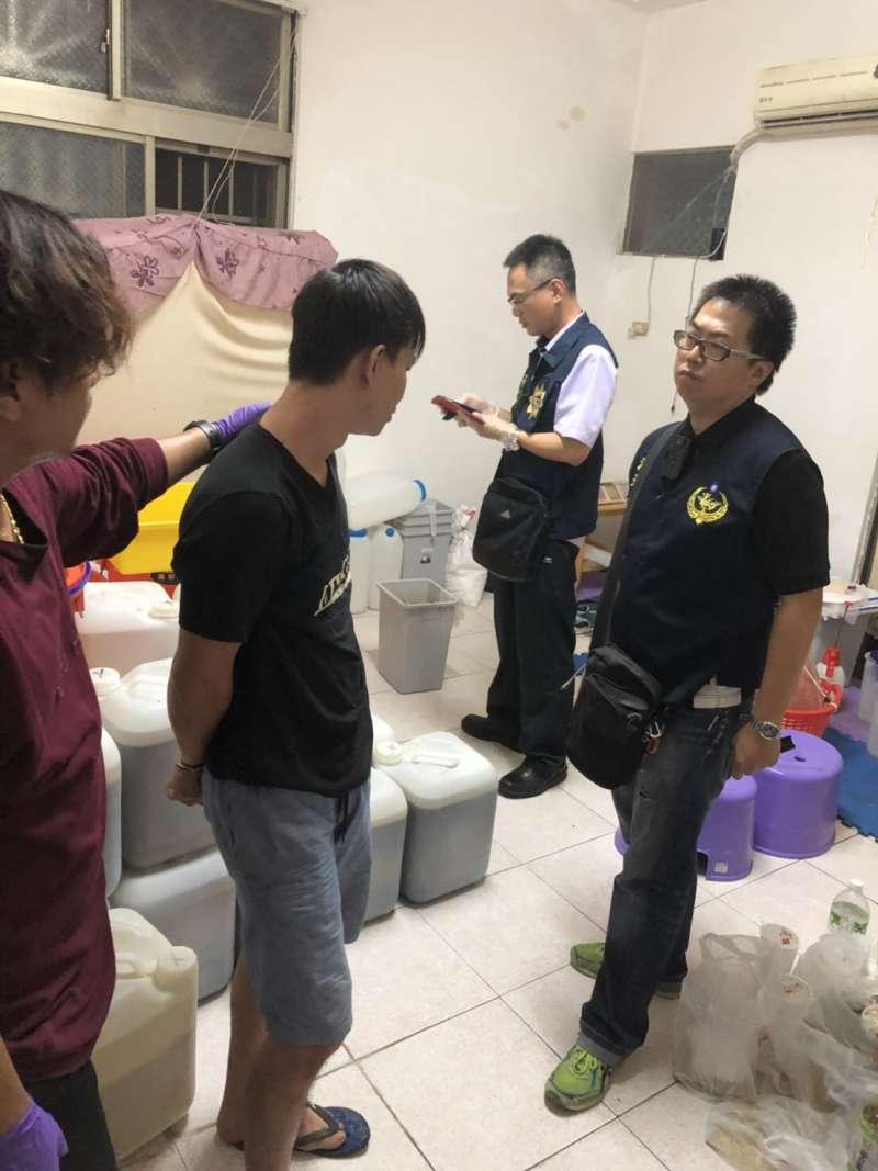 20190611_海巡署報捷 直搗屏東2製毒工廠。嫌犯。(海巡署提供)