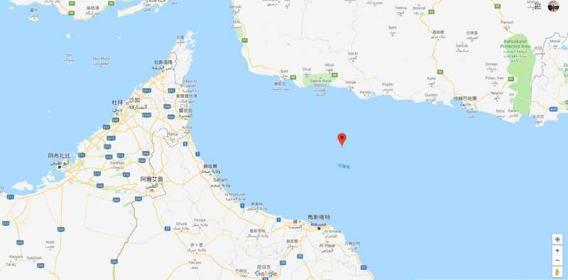 阿曼灣(Gulf of Oman)(Google Map)