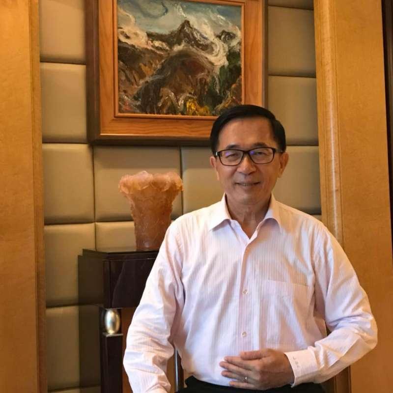 20180625_前總統陳水扁。(取自臉書「陳水扁新勇哥物語」)