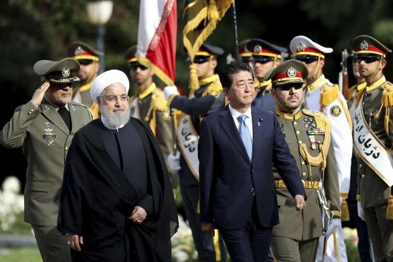 2019年6月12日,日本首相安倍晉三出訪伊朗。(AP)