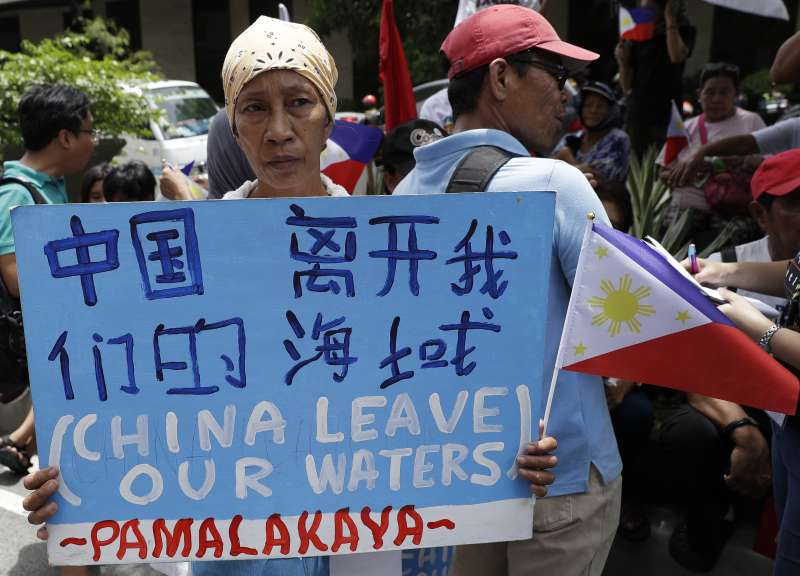 南海爭議:菲律賓民眾示威(AP)