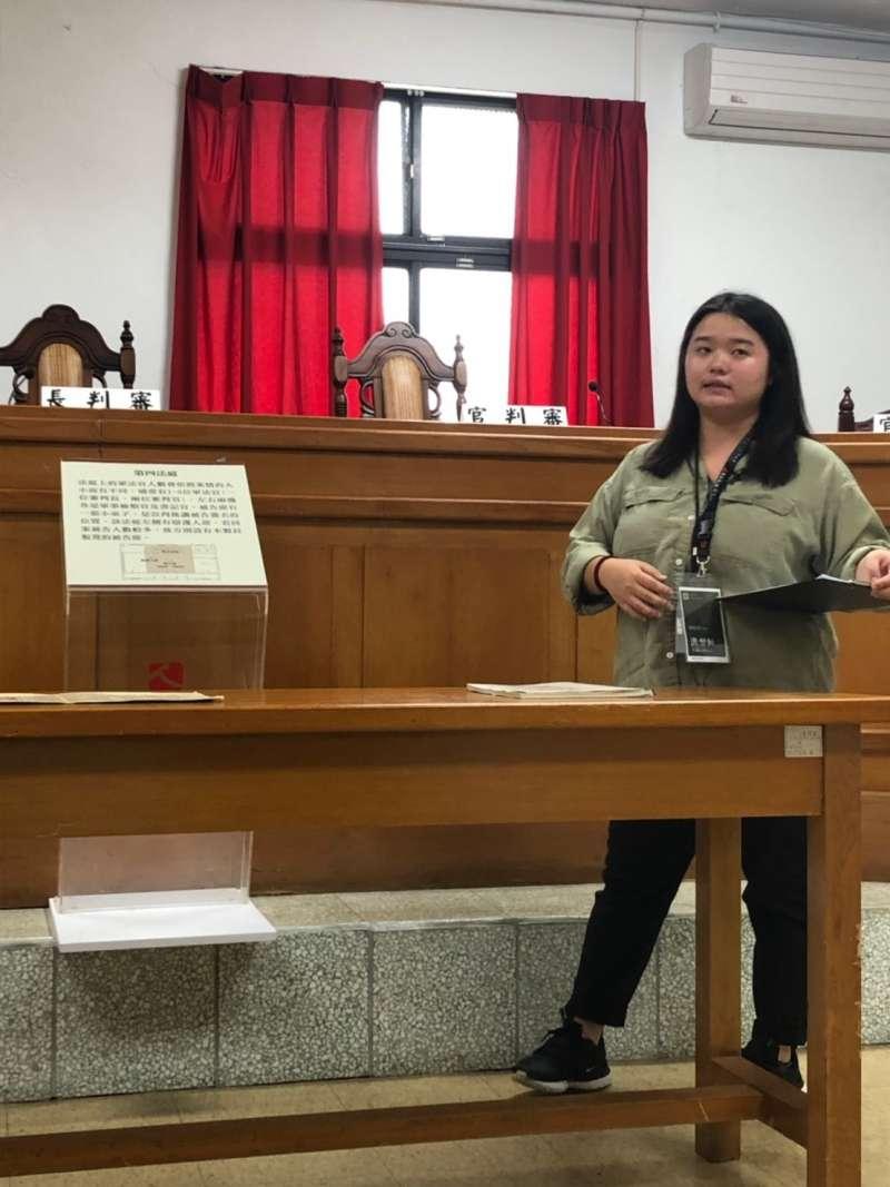 20190615-國家人權博物館景美人權園區導覽員洪翌恒。(林艾提供)