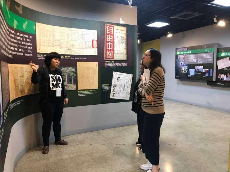 20190615-國家人權博物館景美人權園區胡鈞怡(左)。(林艾提供)