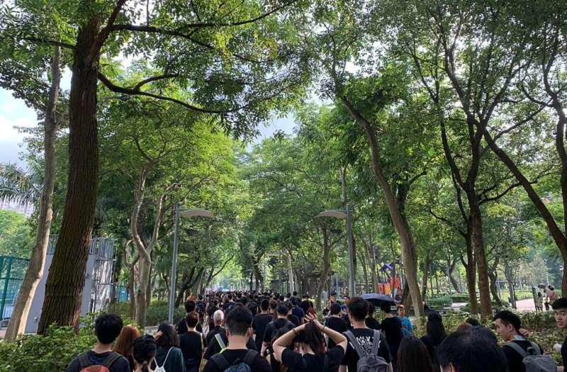 維多利亞公園 20190616_香港16日下午「反送中」大遊行。(H.H提供)