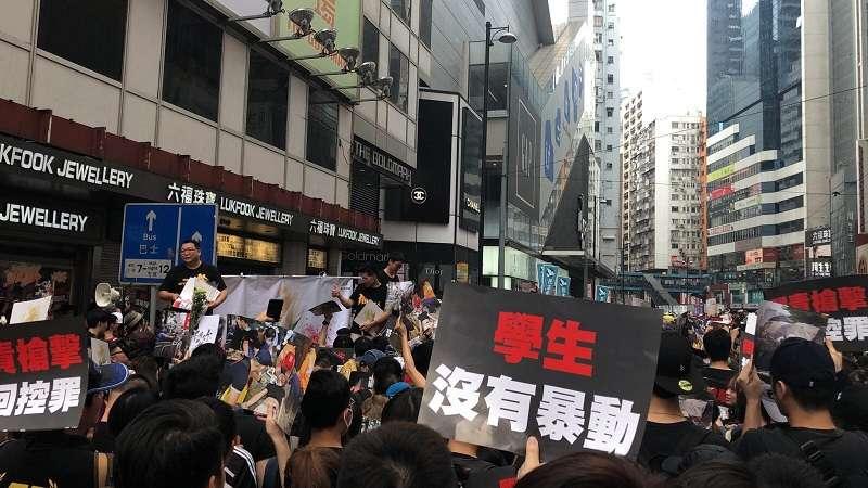 銅鑼灣希慎廣場 20190616_香港16日下午「反送中」大遊行。(A.Y提供)