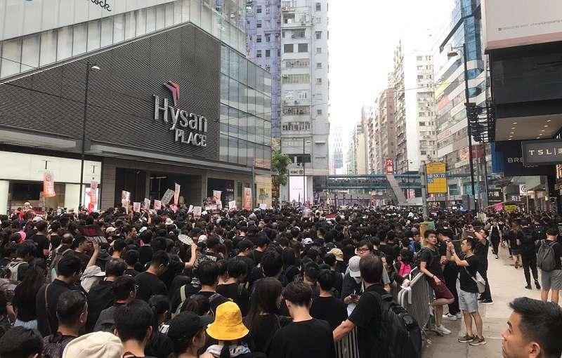 希慎廣場 20190616_香港16日下午「反送中」大遊行。(Ball提供)