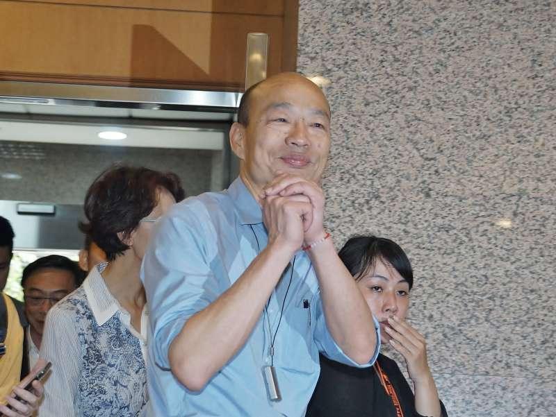 20190617-高雄市長韓國瑜前往立法院中興大樓拜會高雄區立委。(盧逸峰攝)