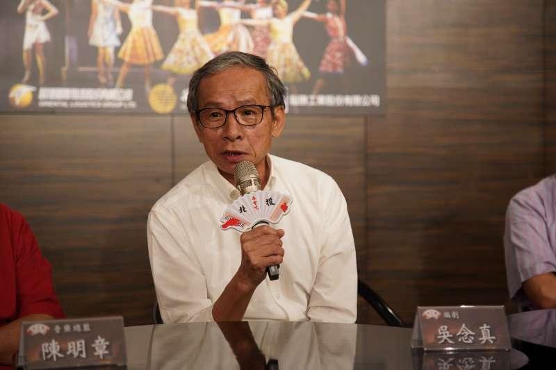 20190618-音樂劇《再會吧北投》由吳念真(見圖)編導,希望能結合道地「那卡西」,貼近台灣這塊土地。(綠光劇團提供)