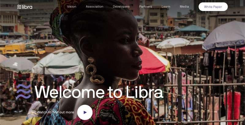 臉書推出的數位貨幣Libra(翻攝Libra官網)