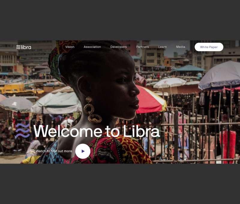 臉書推出的數位貨幣Libra。(翻攝Libra官網)