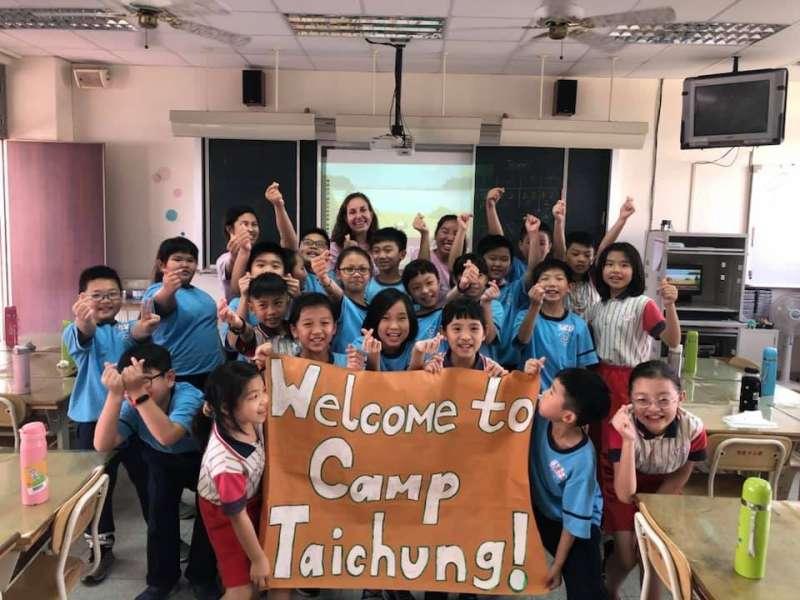 英語營隊深獲學生喜愛。(圖/台中市政府提供)