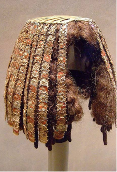 埃及貴族假髮歷史文物(圖/大英博物館)